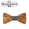 Zebra Striped Wooden Bow ties