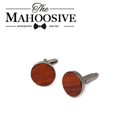 Red Rosewood Wooden Cufflinks