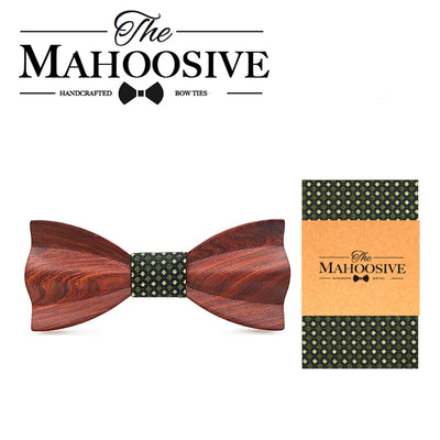 Red wedding bow tie Red rosewood
