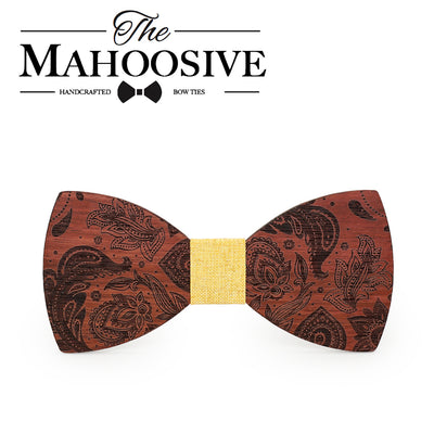 Wooden bow tie Engraved name