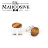 Zebra Wooden Cufflinks