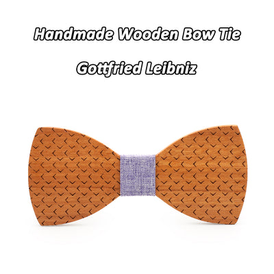 Wooden Bow ties White Cheery