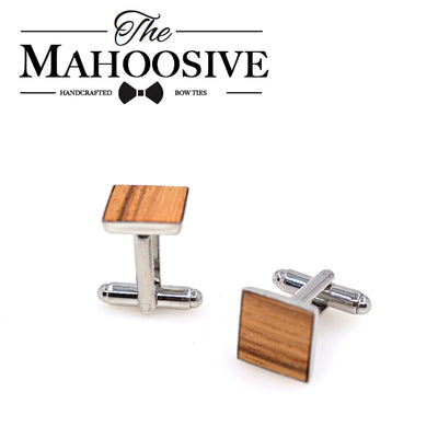 Zebra wood cufflinks square