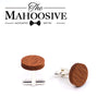 MAHOOSIVE Wooden Cufflinks Wedding Groom Anchor Shirt Cufflinks For Mens Casual Cuff Link with Gift box