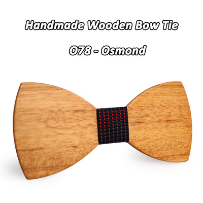 White Cheery Wooden Bow Tie O71-O82
