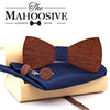 Wooden bow tie With Pocket Square