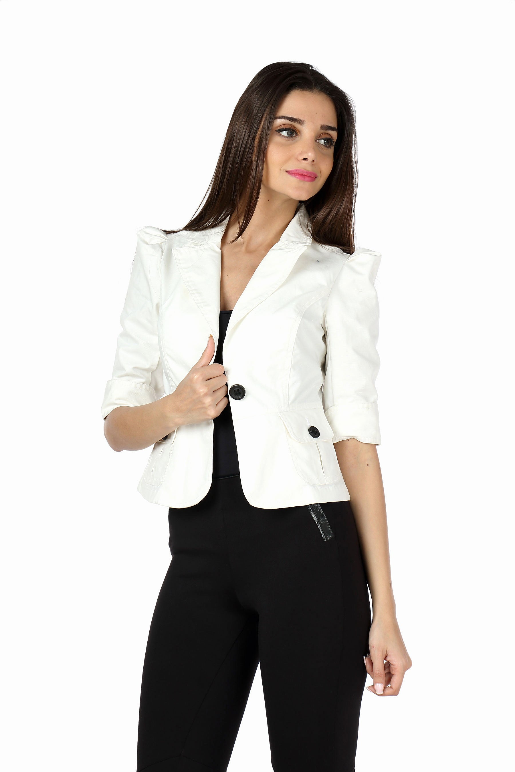 The Classic Jacket in White Front 2