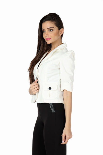 The Classic Jacket in White Side