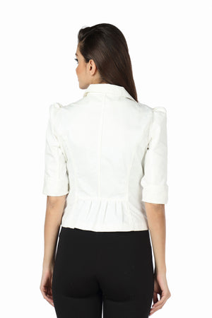 The Classic Jacket in White Back