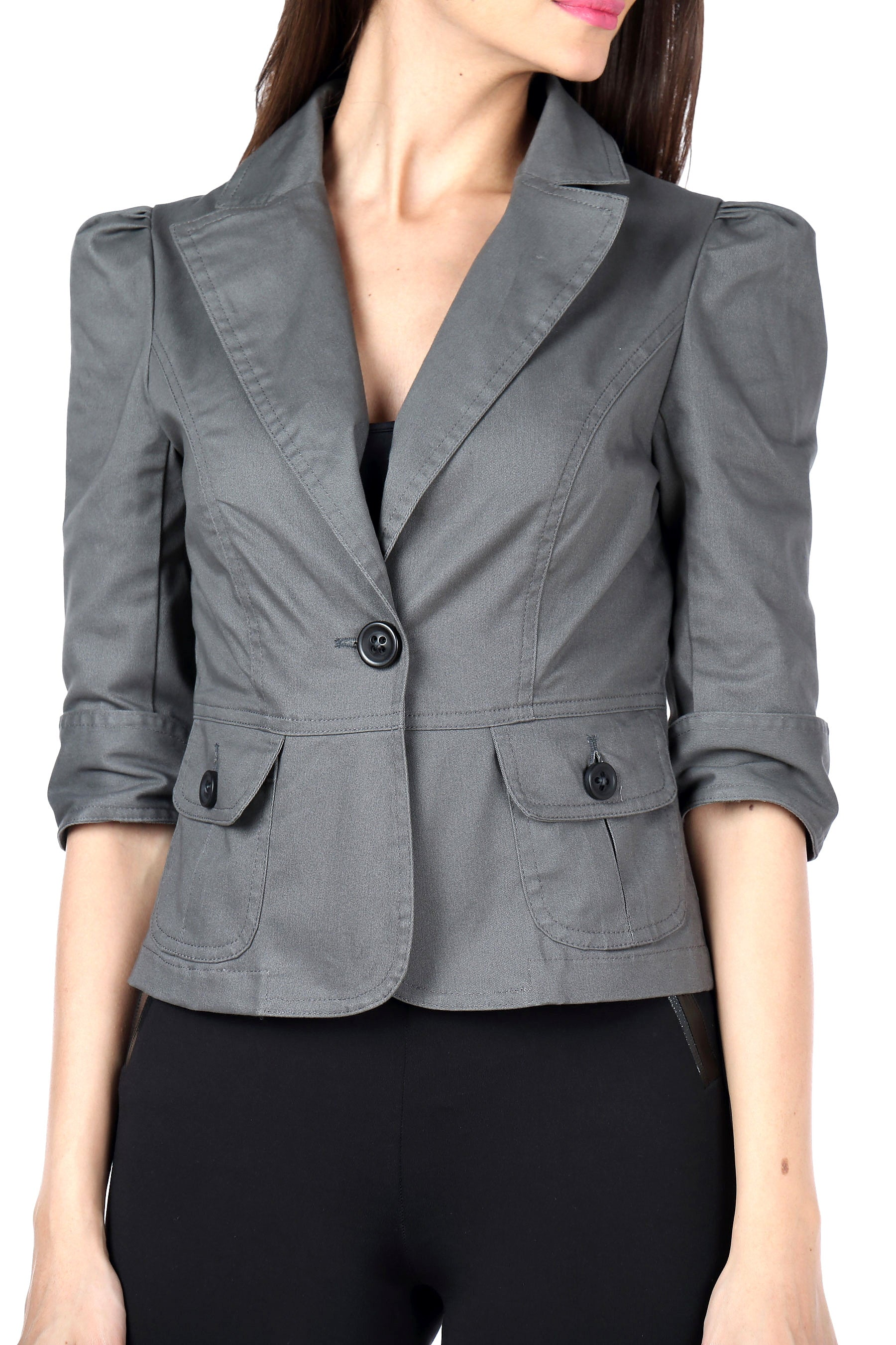 The Classic Jacket in Grey Close Up