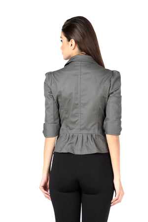 The Classic Jacket in Grey Back