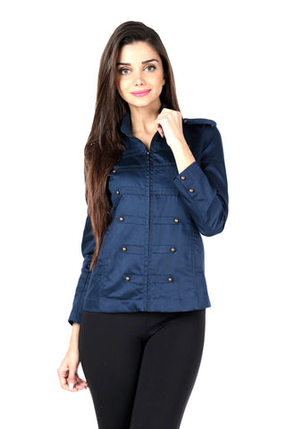 Military Jacket in Navy Front
