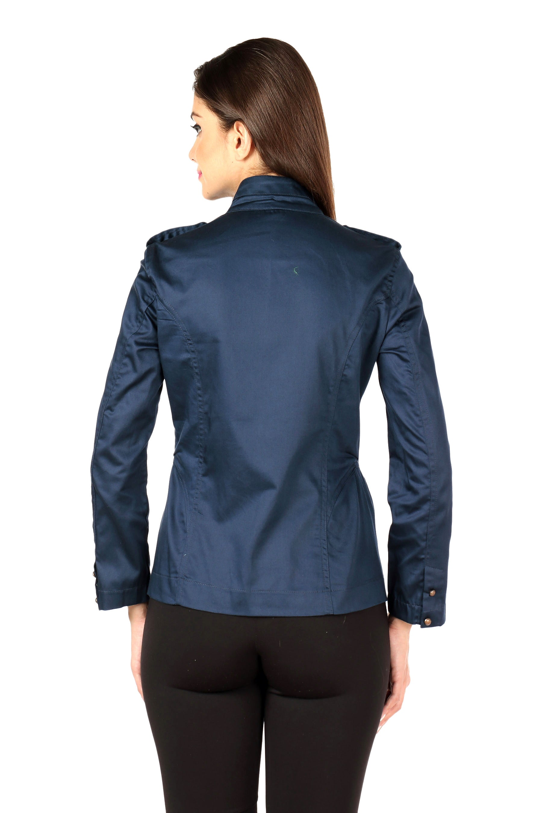 Military Jacket in Navy Back