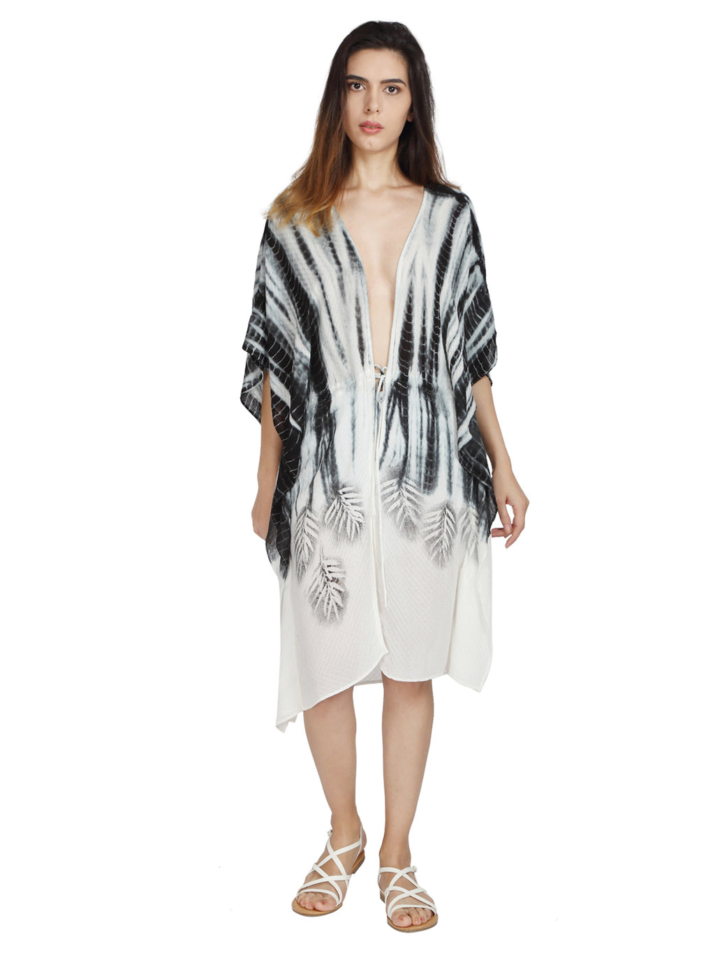 Summer Kaftan in Eucalyptus Fabric