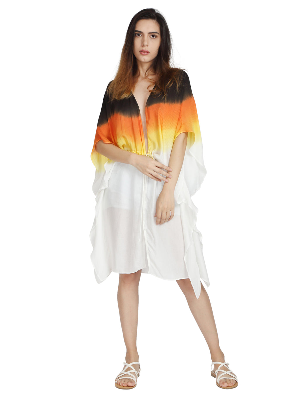 Summer Kaftan in Orange Fabric