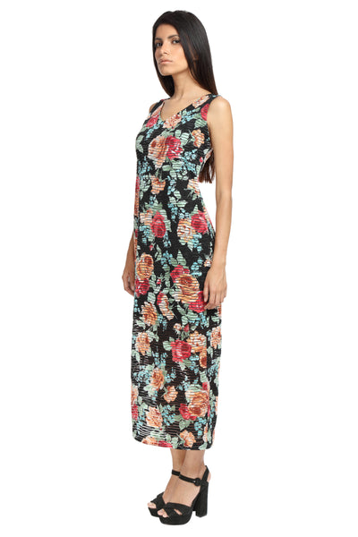 Racer Back Maxi Dress Side