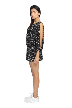 Black Floral Beach Dress Side 2