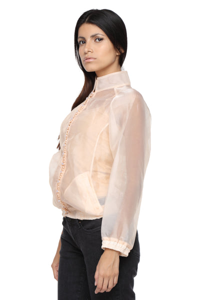 Organza Jacket with Embroidery Side