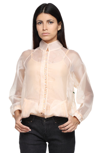 Organza Jacket with Embroidery Front 1