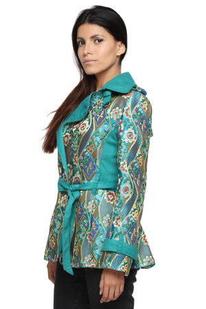 Summer Trench Coat in Bhutanese Fabric Side