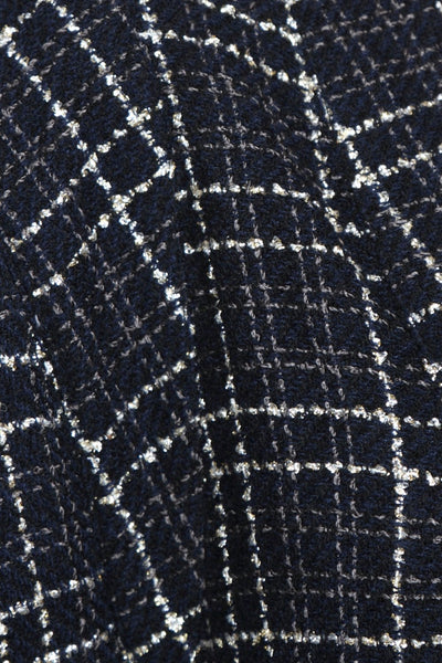 Black Checks Kimono Dress Close Up