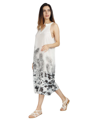 Halter Mid Length Dress in Milk Fabric