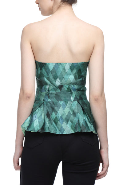 All Silk Crop Corset Back