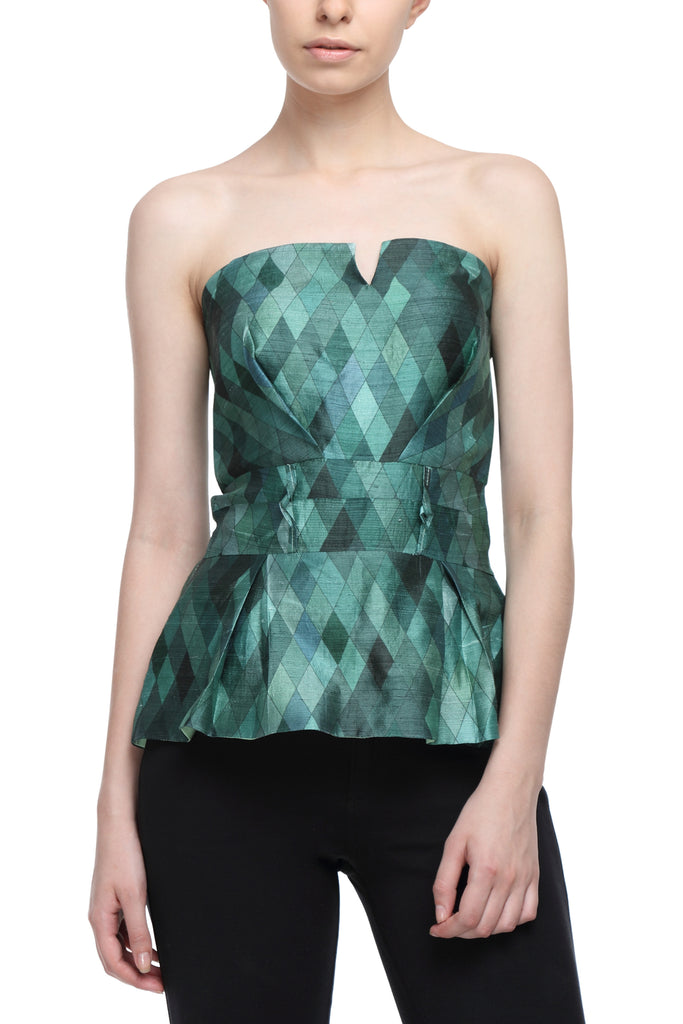 All Silk Crop Corset Front