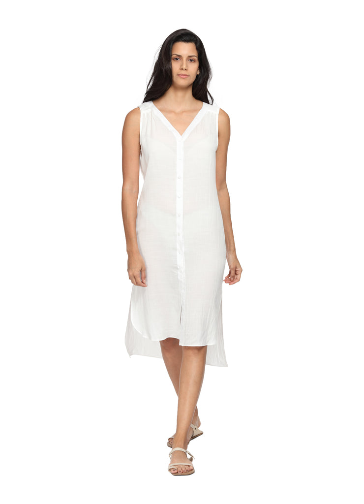Organic Bamboo Cotton Dress Front
