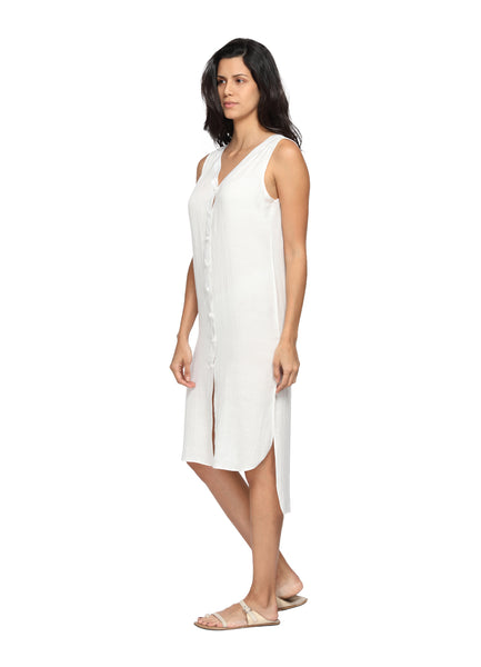 Organic Bamboo Cotton Dress Side