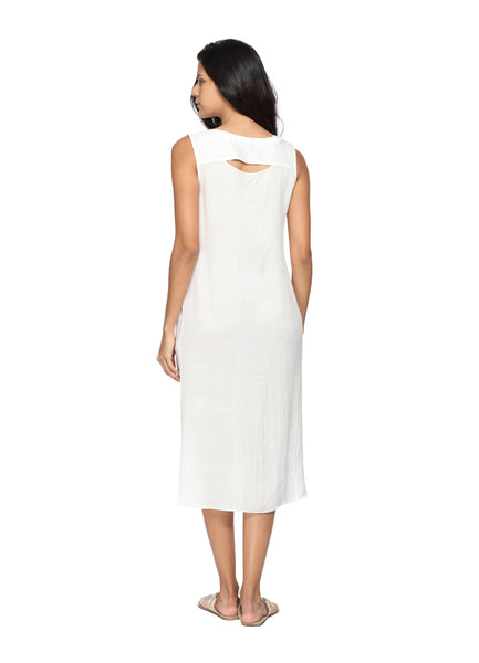 Organic Bamboo Cotton Dress Back