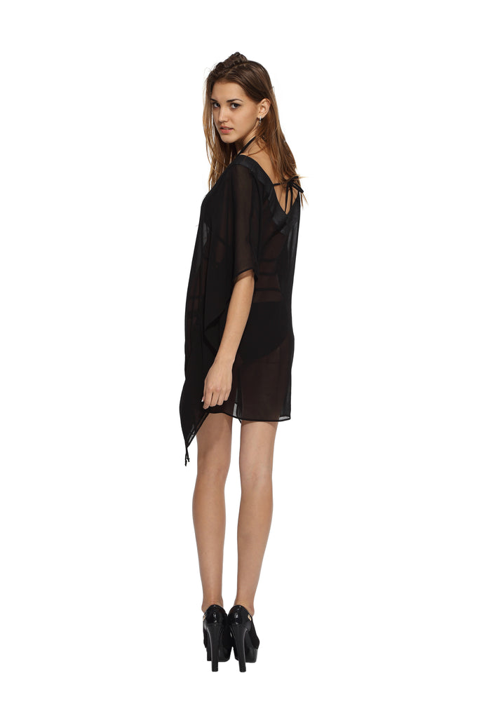 dd78c8ac456932 Black Kaftan – Myvoute- Your Personalized Wedding Collection