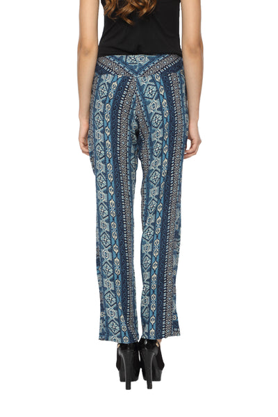 Blue Printed Harlem Pants Back