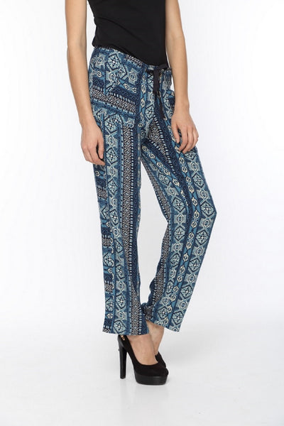 Blue Printed Harlem Pants Side