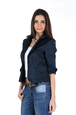 The Classic Jacket in Dark Blue Side