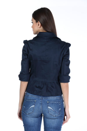 The Classic Jacket in Dark Blue Back