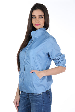 Rain Coat in Sky Blue Side