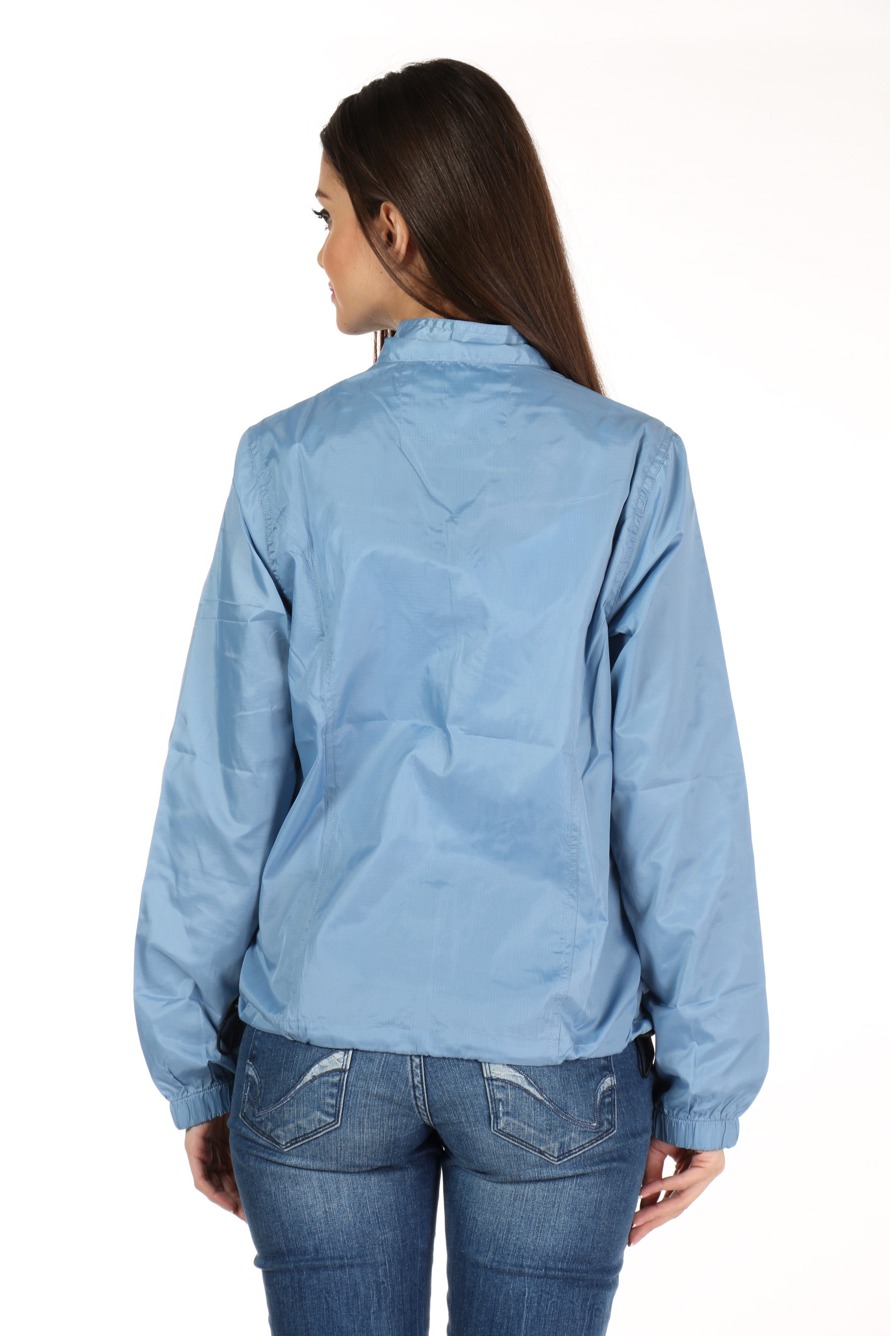 Rain Coat in Sky Blue Back