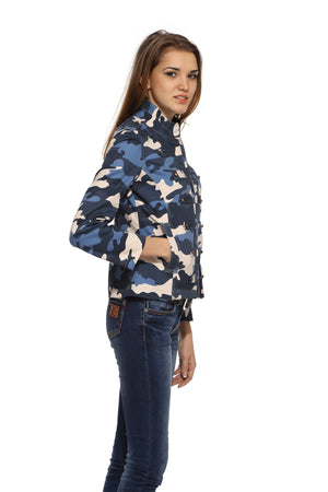 Military Jacket in Blue Camo Side 1