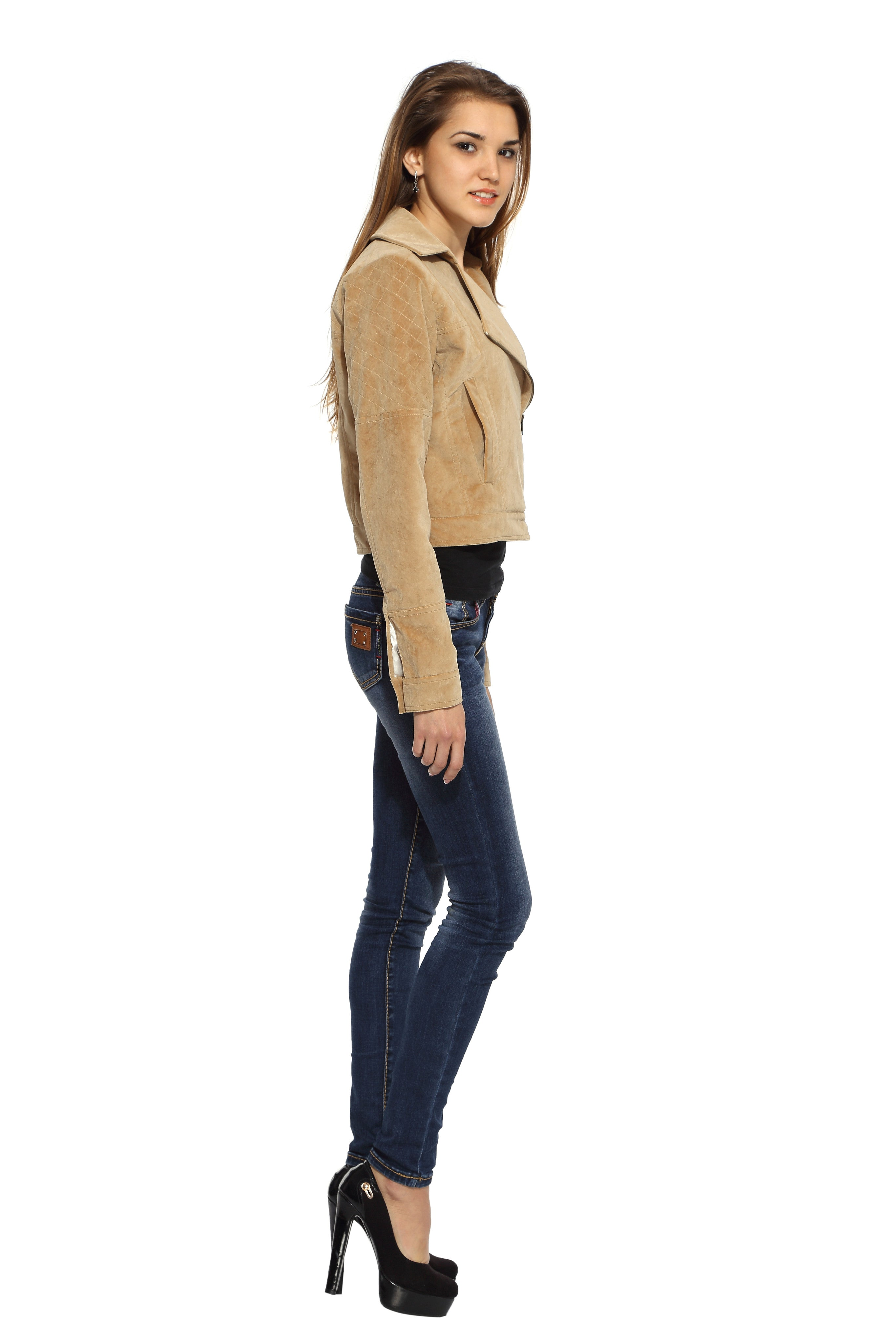Biker Jacket in Brushed Cotton Side 2