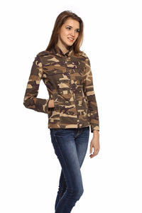 Military Jacket in Brown Camo Front