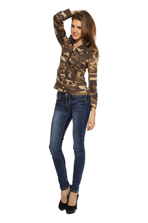 Military Jacket in Brown Camo Side