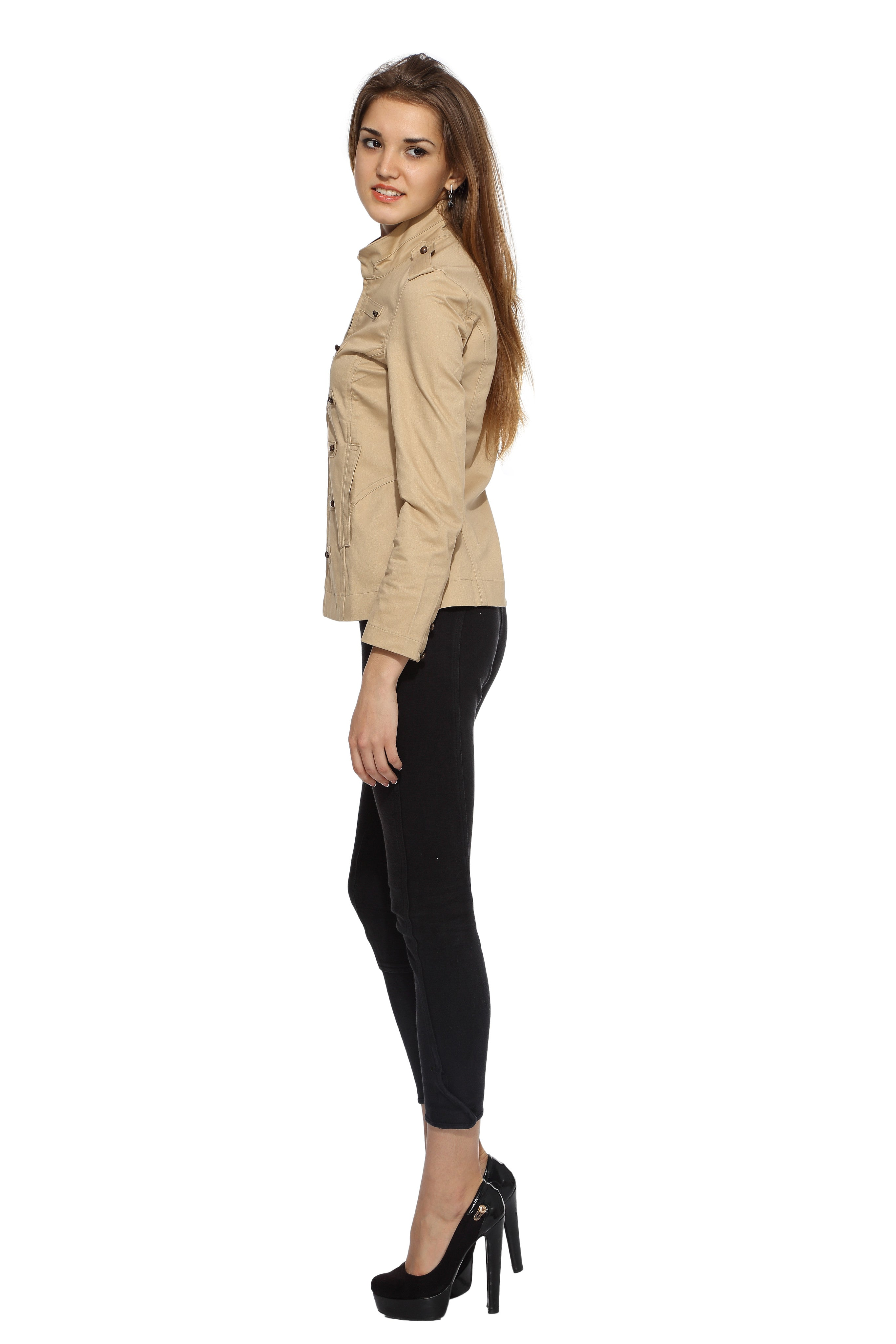 Military Jacket in Khaki Side