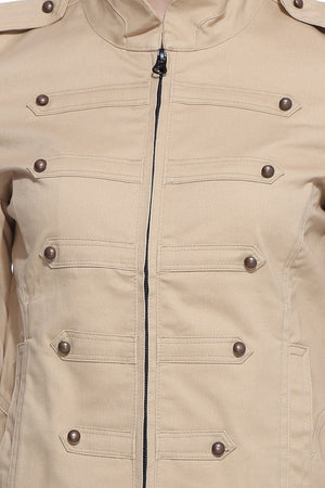 Military Jacket in Khaki Close Up