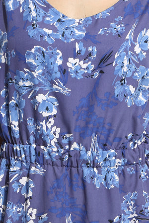 Blue Floral Dress Close Up
