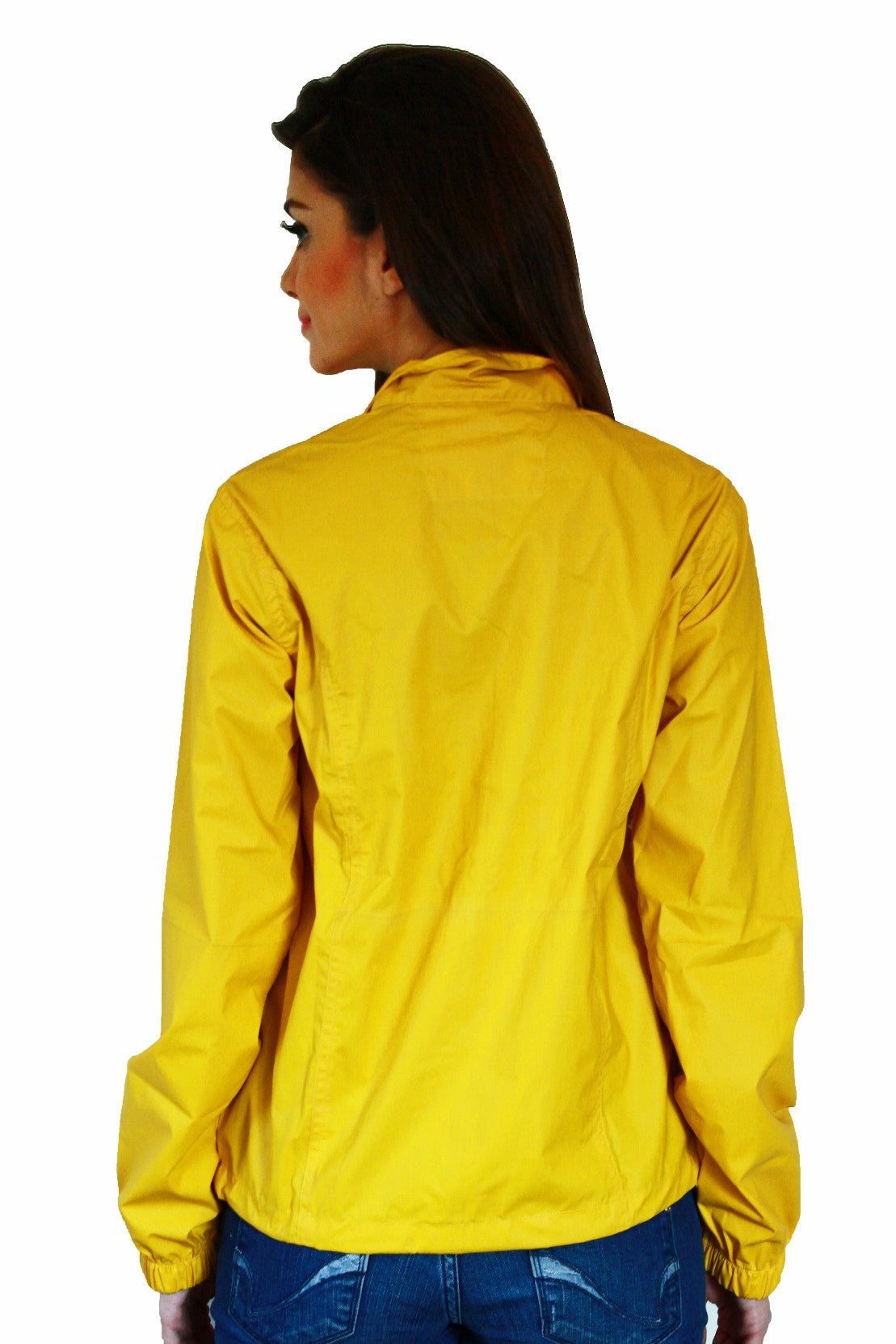 Rain Coat in Yellow Back