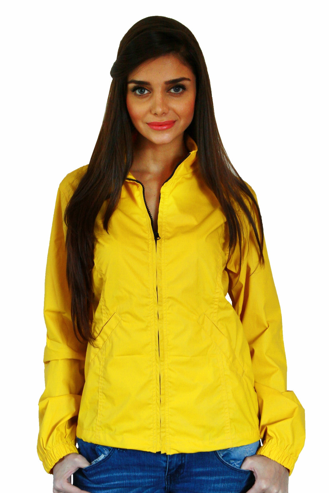 Rain Coat in Yellow Front