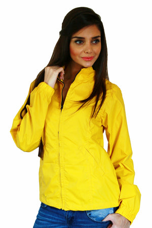 Rain Coat in Yellow Front 1