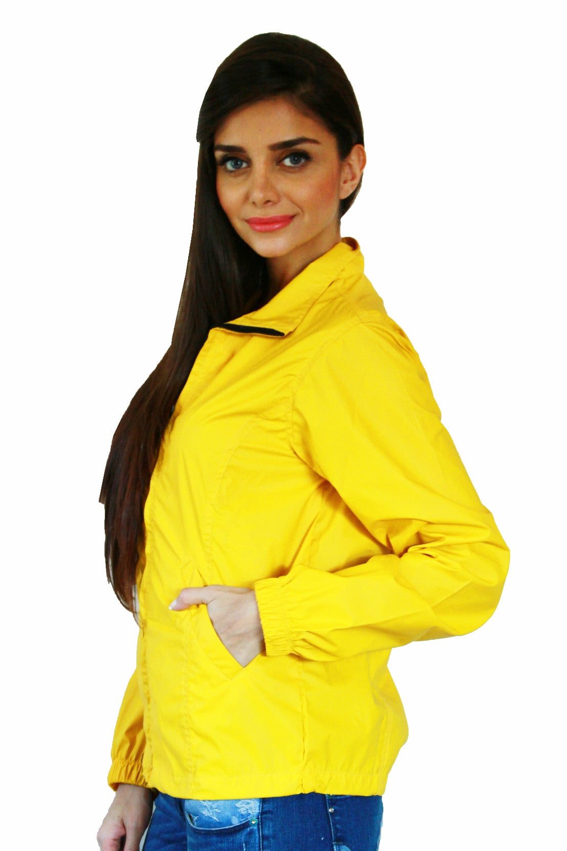 Rain Coat in Yellow Side