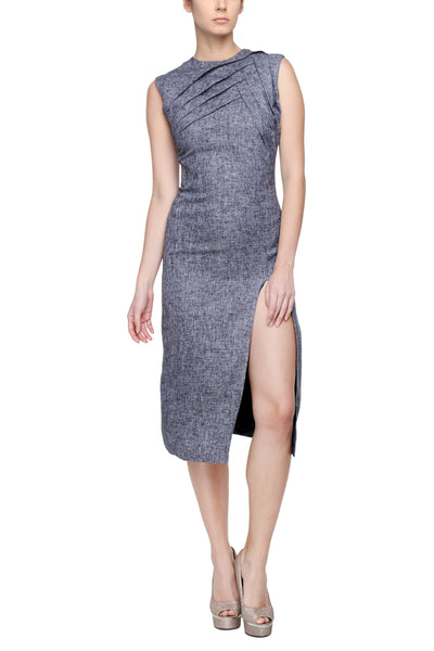 Melange Shift Dress Front
